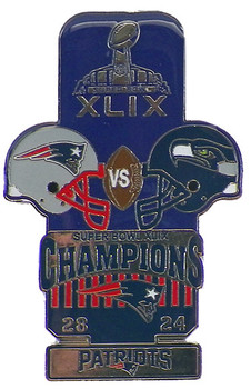 Super Bowl XLIX (49) Oversized Commemorative Pin