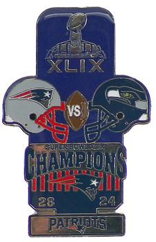 Super Bowl XLIX (49) Oversized Commemorative Pin
