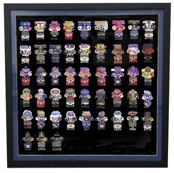 "Large Lapel Pin Frame Display w/ Matting - 24"" x 24"""