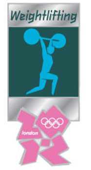London 2012 Olympics Weightlifting Pictogram Pin