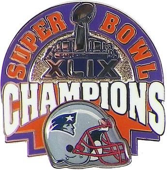 New England Patriots Super Bowl XLIX (49) Champions Pin - Helmet Style