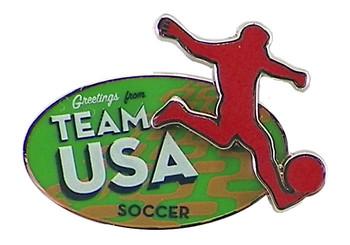 Rio de Janeiro 2016 Olympics Soccer Double Pin