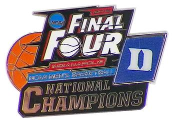 Duke Blue Devils 2015 Men's NCAA Final Four Champs Pin