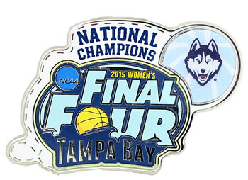 Connecticut Huskies 2015 Women's NCAA Final Four Champs Pin