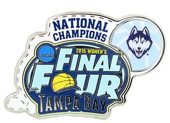 Connecticut Huskies 2015 Women's NCAA Final Four Champs Pin