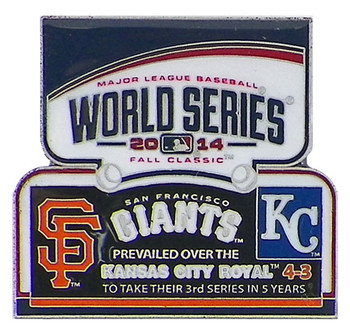2014 World Series Commemorative Pin - Giants vs. Royals