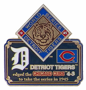 1945 World Series Commemorative Pin - Tigers vs. Cubs