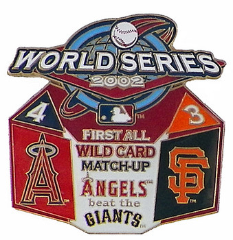 2002 World Series Commemorative Pin - Angels vs. Giants