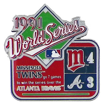 1991 World Series Commemorative Pin - Twins vs. Braves