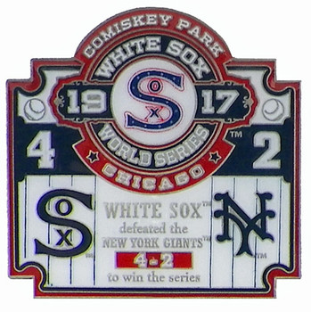 1917 World Series Commemorative Pin - White Sox vs. Giants