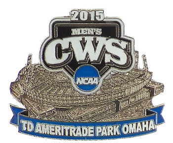2015 NCAA College World Series Ameritrade Park Omaha Pin
