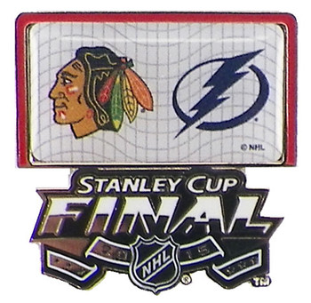 2015 NHL Stanley Cup Finals Blackhawks vs. Lightning Dueling Pin
