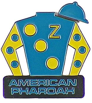 American Pharoah Triple Crown Jockey Silks Pin