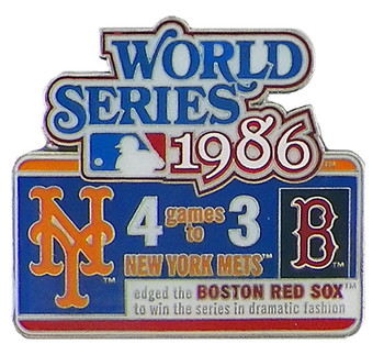 1986 World Series Commemorative Pin - Mets vs. Red Sox