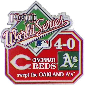 1990 World Series Commemorative Pin - Reds vs. A's