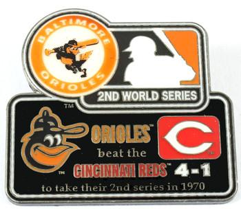1970 World Series Commemorative Pin - Orioles vs. Reds
