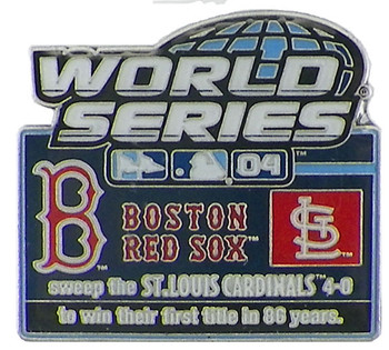2004 World Series Commemorative Pin - Red Sox vs. Cardinals