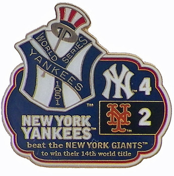 1951 World Series Commemorative Pin - Yankees vs. Giants