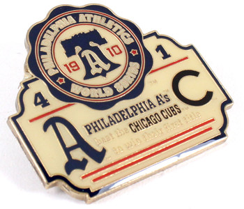 1910 World Series Commemorative Pin - A's vs Cubs