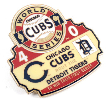 1907 World Series Commemorative Pin - Cubs vs. Tigers