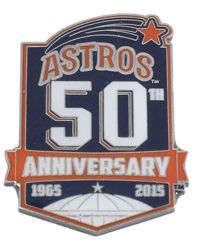 Houston Astros 50th Anniversary Pin (1965-2015) - Limited Edition 2,015
