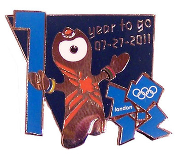 "London 2012 Olympics ""One Year To Go"" Pin"