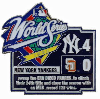 1998 World Series Commemorative Pin - Yankees vs. Padres