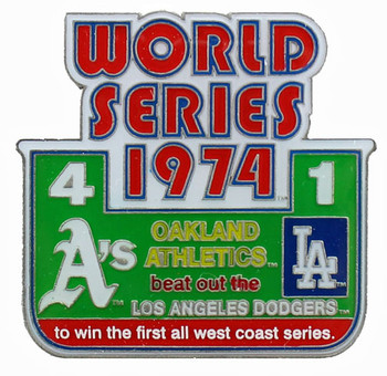 1974 World Series Commemorative Pin - A's vs. Dodgers