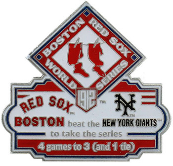 1912 World Series Commemorative Pin - Red Sox vs. Giants