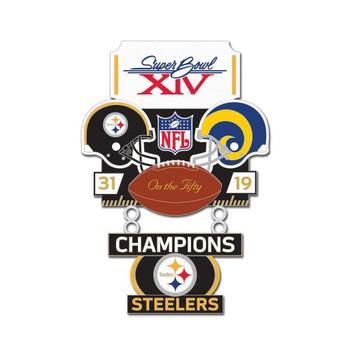 Super Bowl XIV (14) Commemorative Dangler Pin - 50th Anniversary Edition