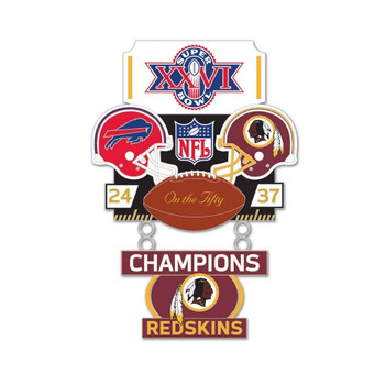 Super Bowl XXVI (26) Commemorative Dangler Pin - 50th Anniversary Edition