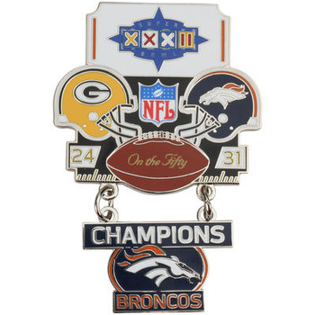 Super Bowl XXXII (32) Commemorative Dangler Pin - 50th Anniversary Edition