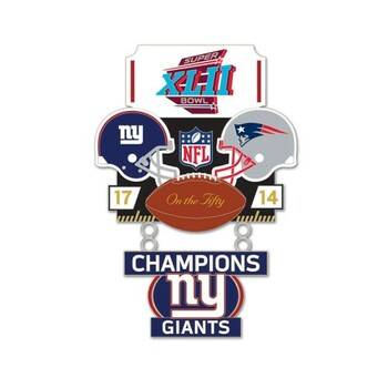 Super Bowl XLII (42) Commemorative Dangler Pin - 50th Anniversary Edition