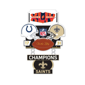 Super Bowl XLIV (44) Commemorative Dangler Pin - 50th Anniversary Edition
