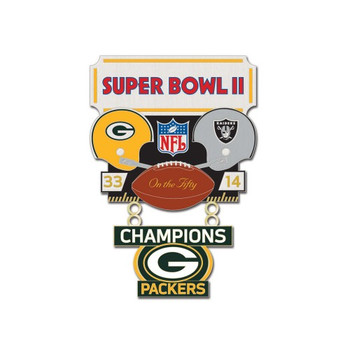 Super Bowl II (2) Commemorative Dangler Pin - 50th Anniversary Edition