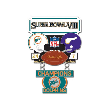 Super Bowl VIII (8) Commemorative Dangler Pin - 50th Anniversary Edition