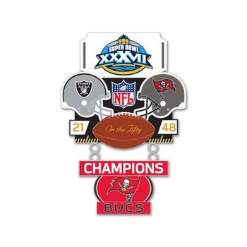Super Bowl XXXVII (37) Commemorative Dangler Pin - 50th Anniversary Edition