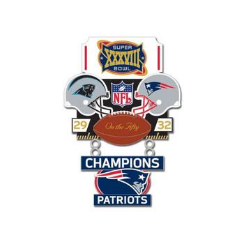 Super Bowl XXXVIII (38) Commemorative Dangler Pin - 50th Anniversary Edition