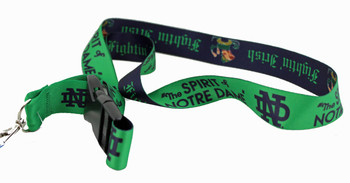 The Spirit of Notre Dame Fighting Irish Lanyard
