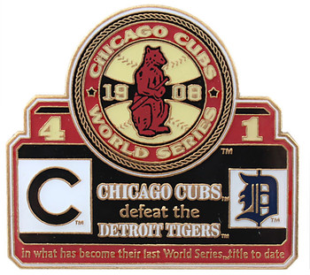 1908 World Series Commemorative Pin - Cubs vs. Tigers