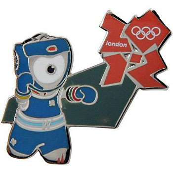 London 2012 Olympics Wenlock Boxing Pin