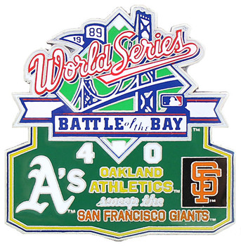 1989 World Series Commemorative Pin - A's vs. Giants
