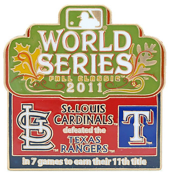 2011 World Series Commemorative Pin - Cardinals vs. Rangers