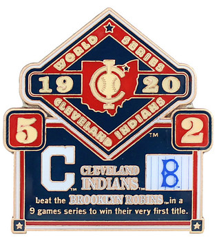 1920 World Series Commemorative Pin - Indians vs. Robins (Dodgers)
