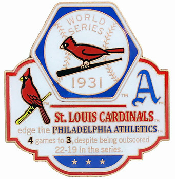 1931 World Series Commemorative Pin - Cardinals vs. Athletics