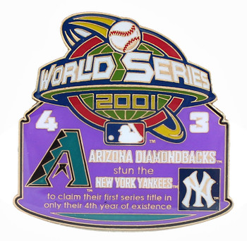 2001 World Series Commemorative Pin - Diamondbacks vs. Yankees
