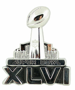 Super Bowl XLVI (46) 3-D Logo Pin
