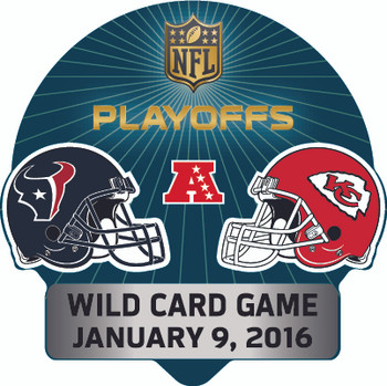 2016 NFL Wild Card Match up Pin - Texans vs. Chiefs