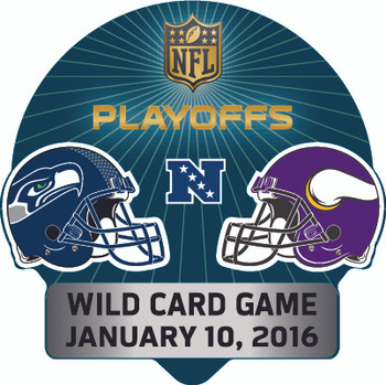 2016 NFL Wild Card Matchup Pin - Seahawks vs. Vikings