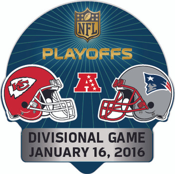 2016 NFL Playoffs Matchup Pin - Chiefs vs. Patriots